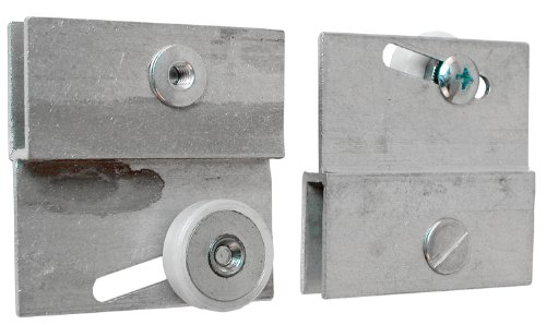 Prime-Line Products M 6054 Frameless Sliding Shower Door Top Bracket, 3/4 in., Flat Plastic Wheel, Steel Ball Bearings (Wheel Bracket)