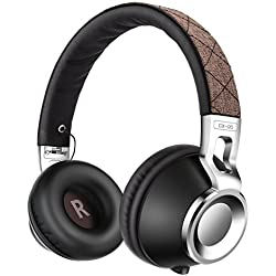 Headphones,Sound Intone CX-05 Headphones with Microphone,Noise Isolating On Ear Headsets for Iphone,Android Device,Mp3/4,Laptop,Tablet (Brown-1)