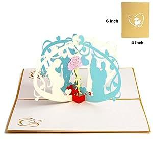 Amazon.com: Día de la madre 3d Pop Up Tarjeta de ...