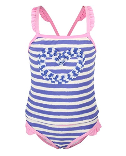 Dalary Striped Heart Printed Two Pieces Swimsuits (5T,Blue) (2 Piece Printed Hearts)