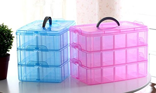 Amazon.com : Xgeek Portable Plastic Nail Art Makeup Container Manicure Storage Boxes with different colors useful to organize makeup, jewellery by Xgeek : ...