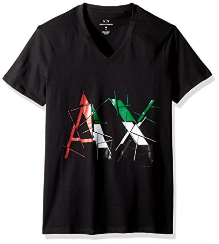 A|X Armani Exchange Men's Shattered Cotton Graphic Tee, Black, - Shop Exchange Armani