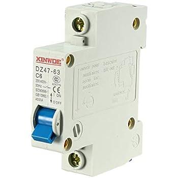 Dz47-63 C40 40 Amp 230//400vac 6000a Breaking Capacidad 1 Polos Disyuntor