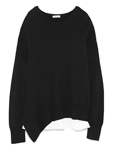 Amazon | FRAY I.D(フレイ アイディー)アシメフレアコンビニット BLK F | Tシャツ・カットソー 通販