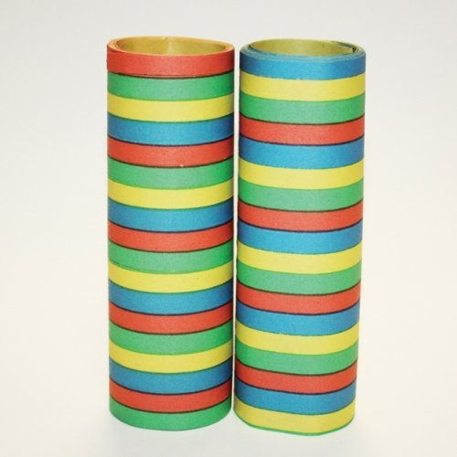 Bright Coloured Serpentine Streamers -