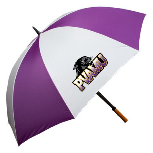 Prairie View A&M 64 Inch Purple/White Umbrella 'Official Logo' by CollegeFanGear
