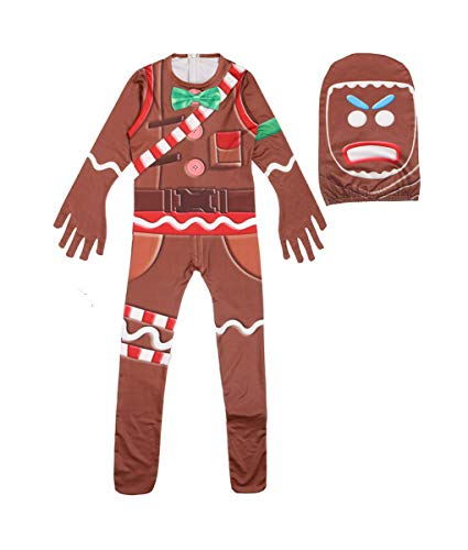 Unisex Kids Game Costume Pajamas Sets Children Halloween Cosplay Shirt (130)
