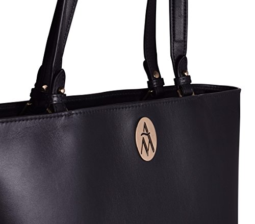 Anna Milan Tote Bag 100% Black Woman Skin Annette Exclusive Collection Made In Spain