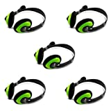 iMicro IM942 Multimedia Stereo Headset with Microphone, 5-Pack