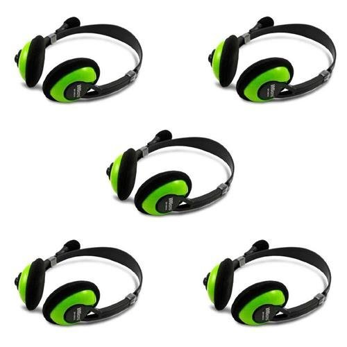 iMicro IM942 Multimedia Stereo Headset with Microphone, 5-Pack by iMicro