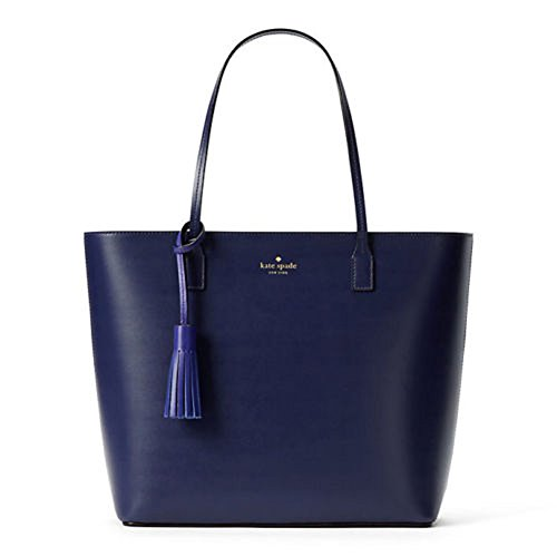 Kate Spade New York Wright Place Karla Leather Tote Shoulder Bag Purse Handbag (sapphire/nightlife - Blue Spade Kate