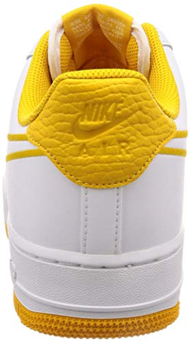Pictures of Nike Men's Air Force 1 '07 White/ Yellow Ochre 7.5 M US 7