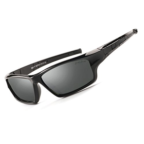 GREY JACK Sports Style Polarized Sunglasses for Kids Aged 3-9 Black Frame Black - Sunglasses Iplay