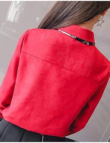 Chemisier Blue en Unie Couleur Coton Femme YFLTZ 8qH0xwTH