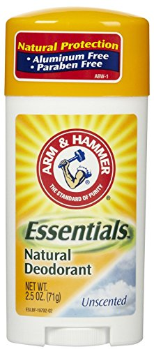 Arm & Hammer Essentials Natural Deodorant, Unscented 2.5oz