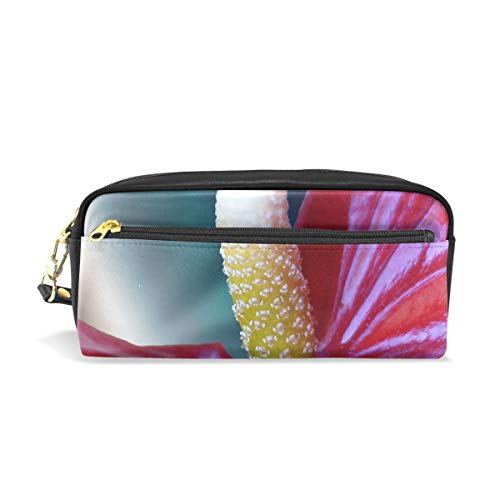 Calla Lily Stationery - XINGCHENSS Pencil Case Stylish Print Calla Lily Red Anthurium Adreanum Flower Floral 511067 Art Pattern Large Capacity Pen Bag Makeup Pouch Durable Students Stationery Two Pockets with Double Zipper