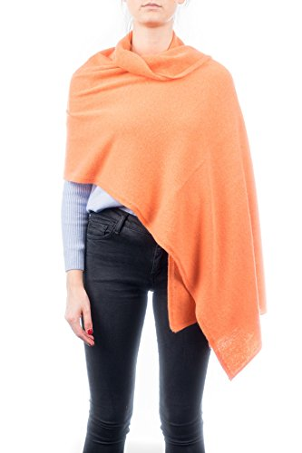 Dalle Piane Cashmere - Stole 100% cashmere - Made in Italy, Color: Orange, One size