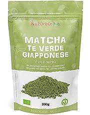 Ekologiskt grönt matcha pulverte [ KULINARISK KVALITET ] 200g. Matchate producerat i Japan, i staden Uji, Kyoto. Perfekt för efterrätter, smoothies, iste, latte och som ingrediens i mat- och bakrecept