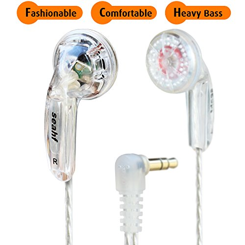 Seahf Earbuds, In Ear Headphones, Wired Earphones, Hi-Fi Super Heavy Bass Headset AWK-F32T for iPhone, iPad, iPod, Samsung, Huawei, LG, HTC, Nokia, OnePlus, & other Android devices