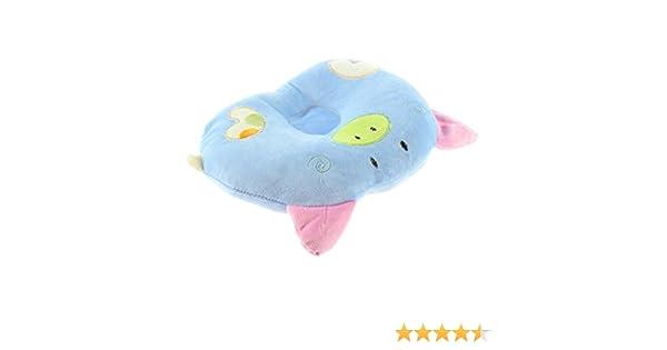 TOOGOO Alcancia de algodon suave en forma de cerdo para bebe recien nacido infantil del nino que duerme Almohada soporte de prevenir la cabeza plana REGALO R