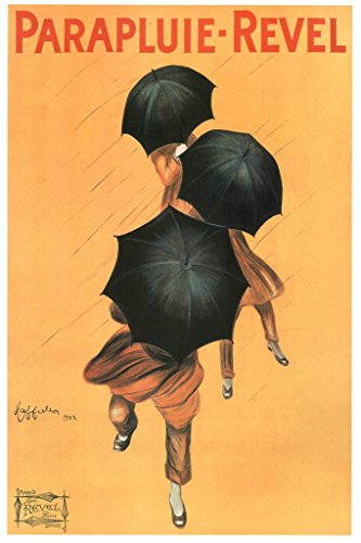 Canvas Reproduction Vintage Print - Poster Foundry Leonetto Cappiello Parapluie Revel Vintage Umbrella Advertising Print Reproduction Stretched Canvas Wall Art 16x24 inch