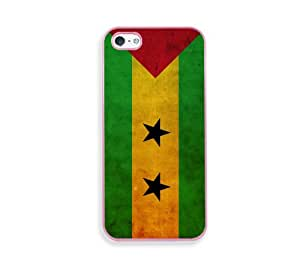 Sao Tome & Principe Flag Pink Plastic Bumper iPhone 5 & 5S Case - Fits iPhone 5 & 5S