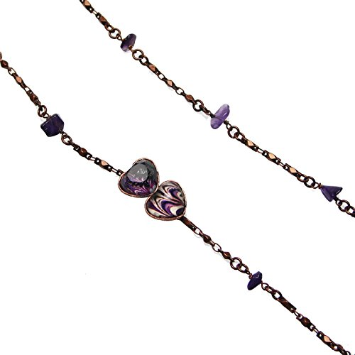 Tamarusan Glasses Chain Seventy Years Of Age Amethyst Strap Heart Marble by TAMARUSAN