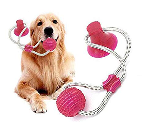 LYGLO Pet Dog Ropes Toys Rubber Ball Toy Interactive Molar Chew Toy Teeth Cleaning Tool