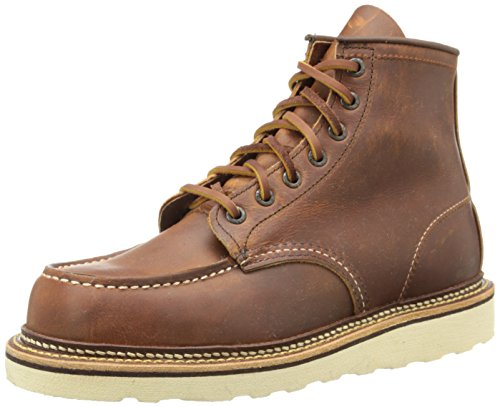Red Wing Heritage Men's Classic 1907 6-Inch Moc Toe Boot,Copper Rough & Tough,8 D US Mens Classic 6 Inches Boot