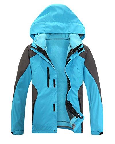 Femelle En 3 Randonnée Veste Sport Manteau Polaire Ski De Femme Imperméable Vent 1 Azur Coupe Homme ca71nfrWc