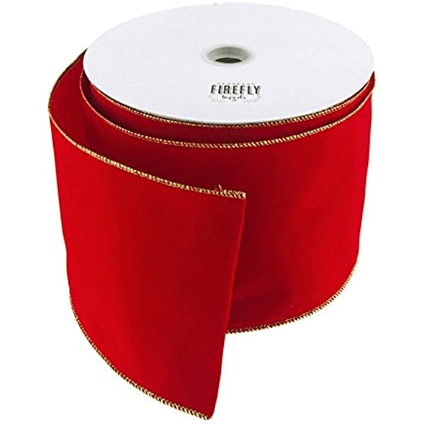 4-12-Inch Christmas Luxury Twirl Wired Ribbon 3-Piece 5-34-Feet