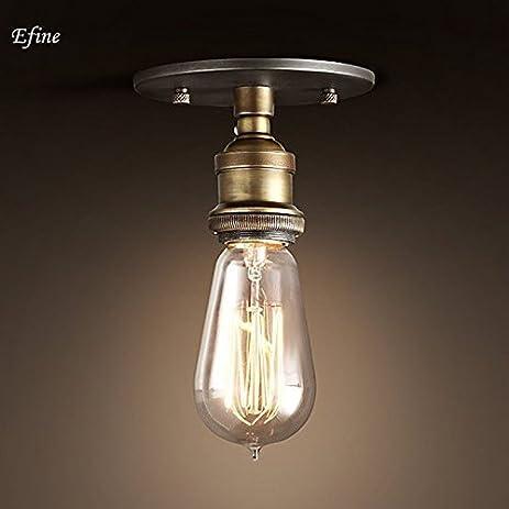 efinehome efine 1 light simplicity ceiling lamp lofe vintage edison factory filament bare bulb ceiling porch