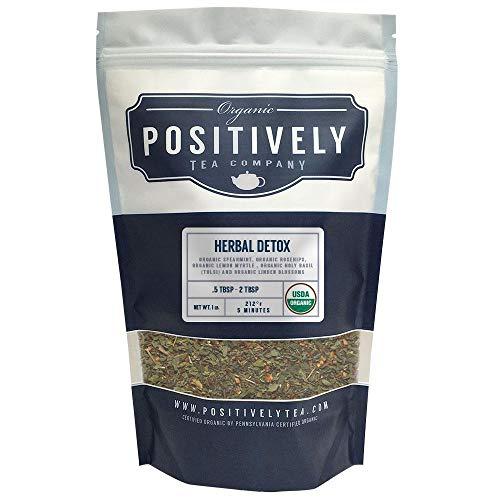 - Positively Tea Company, Organic Herbal Detox, Herbal Tea, Loose Leaf, USDA Organic, 1 Pound Bag