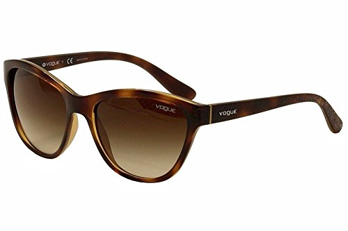 VOGUE Women's Injected Woman 0vo2993s Cateye Sunglasses, Dark Havana, 57 - Sunglasses Vogue