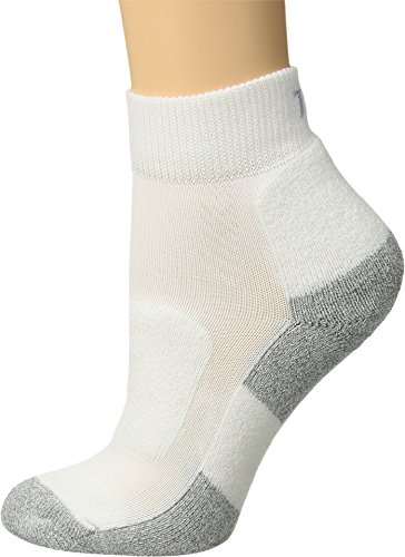 Thorlo Lite Mini - Thorlos Women's Lite Walking Mini Crew Single Pair White Large