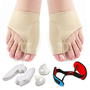 Bunion Corrector Gel Toe Separator Relief Protector Sleeves Kit Treat Pain in Hallux Valgus, Tailors