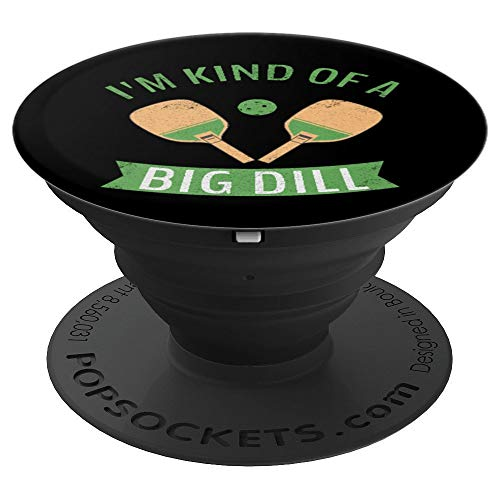 Pickleball Big Dill Paddle Ball Retro Gift Product - PopSockets Grip and Stand for Phones and Tablets