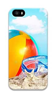 Beach ball and Goggles Polycarbonate Hard Case Cover for iPhone 5/5S 3D
