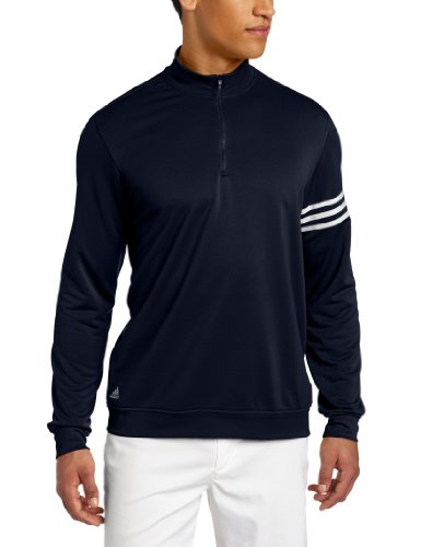 adidas Golf Men's's Climalite 3-Stripes Pullover, Navy/White, X-Large ()
