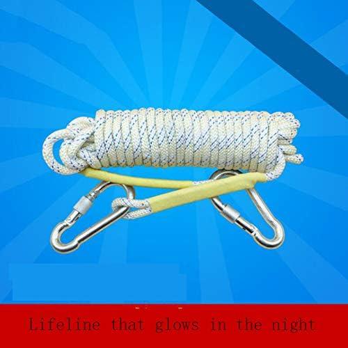 屋外の上昇の安全吊り鎖の懸垂下降のロープの補助コード 8mm 10/20/40,White,10m