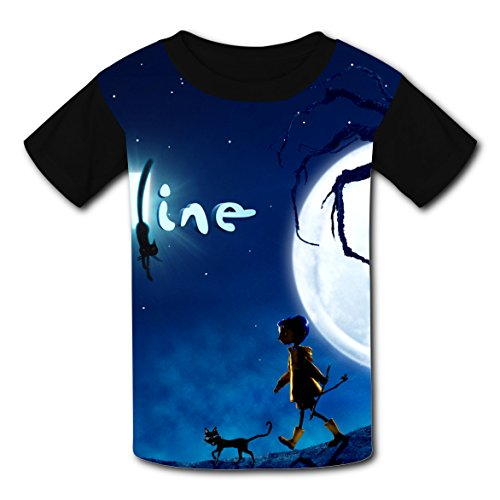 Coraline Costume For Kids (DKODHGE Coraline Children T-shirt Cool Gilr's Boy's Costume XL)
