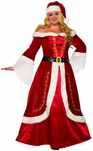 Forum Novelties Women's Plus-size Premium Mrs. Claus Plus Adult Costume, Multi Color, 2X-Large]()