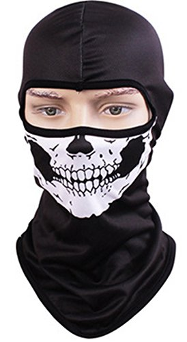 Quick Drying Breathable Mask, Men and Women Personality, Outdoor Riding, Sunscreen, CS Headgear, Animal Mask, Masked Hat(skull) by WDA