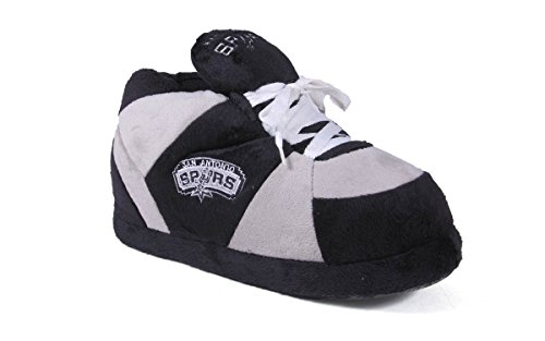 San Antonio Spurs Slippers (SAS01-3 - San Antonio Spurs - Large - Happy Feet Mens and Womens NBA Slippers)