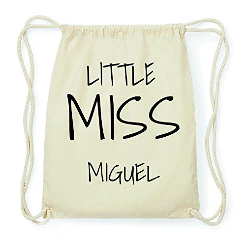 JOllify MIGUEL Hipster Turnbeutel Tasche Rucksack aus Baumwolle - Farbe: natur Design: Little Miss P0U9Dc