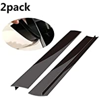 Stove Counter Gap Cover, Kitchen Silicone Oven Gap Filler – 21 Inches Countertop Strips Gap Guard, Easy to Clean (Black)
