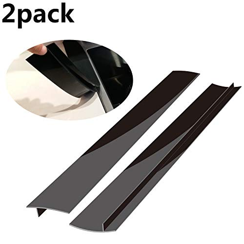 Stove Counter Gap Cover, Long Silicone Gap Cover, Gap Filler for Oven Protector,Countertop, Kitchen Appliances, Set of 2 Black by Mofason ... (21 inch)