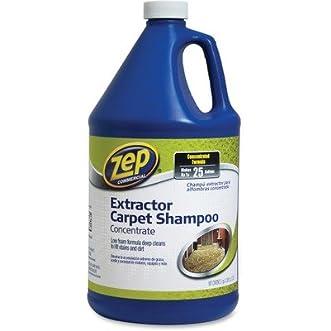 ZPE ZUCEC128 Carpet Extractor Shampoo, 1 gal Bottle