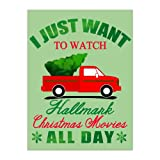 I Just Want to Watch Hallmark Christmas Movies All Day - Christmas Tree Truck Snowflakes Merry Christmas Funny Xmas Santa Gift Velvet Plush Fleece Super Soft Cozy Throw Blanket 58x80 inch (Two Sides) -  Tobe Yours