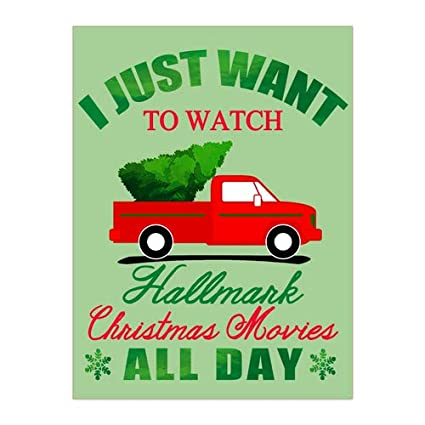 i just want to watch hallmark christmas movies all day christmas tree truck snowflakes merry - Hallmark Christmas Commercial